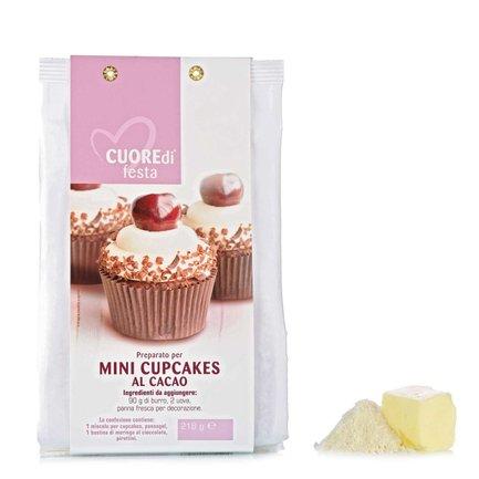 Backmischung für Mini-Cupcakes und Kakao 218g