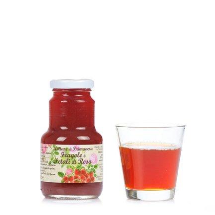 Erdbeer- und Rosenblütennektar 200 ml