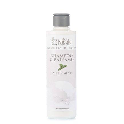 Shampoo und Spülung Milch und Minze 250 ml