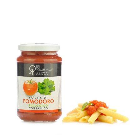Stückige Bio-Tomaten mit Basilikum 340 g