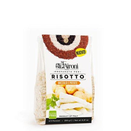 Risotto mit Stockfisch und Kartoffeln  250g