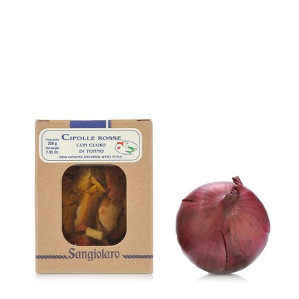Rote Zwiebeln mit Thunfischherz 200 g