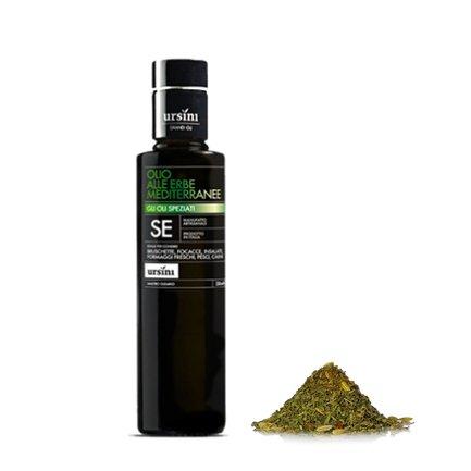 Extra natives Olivenöl mit mediterranen Kräutern 0,25 l