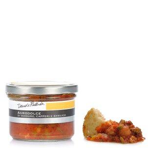Gemüsesoße süß-sauer mit Kapern und Basilikum 180 g