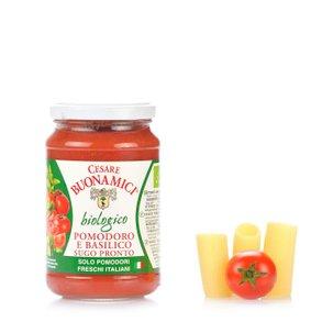 Bio-Fertigsauce mit Tomaten und Basilikum 340 g