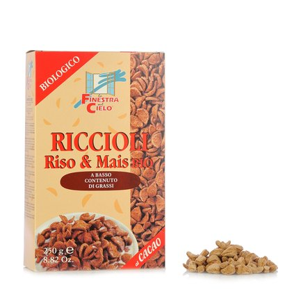 Organic Rice & Corn Curls with Cocoa 250g