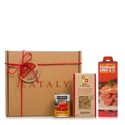 Italian Christmas hamper with lentils