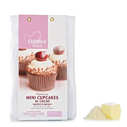 Preparato per Mini Cupcakes al Cacao  218gr