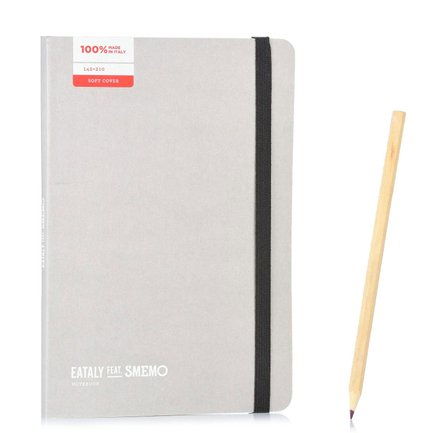 Notebook Medium Grigio Pagina Bianca