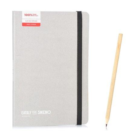 Notebook Medium Grigio Righe