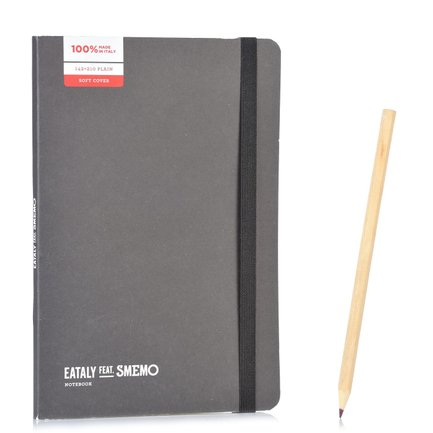Notebook Medium Nero Pagina Bianca