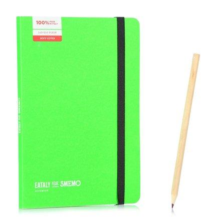 Notebook Medium  Verde Pagina Bianca