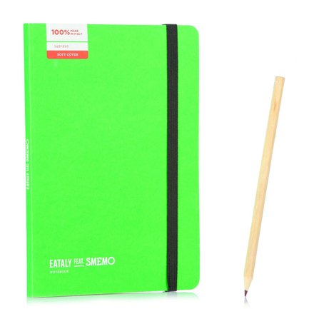 Notebook Medium Verde Righe
