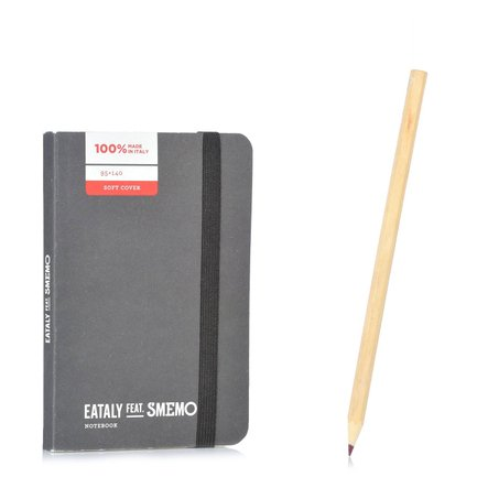 Notebook Pocket Nero Righe