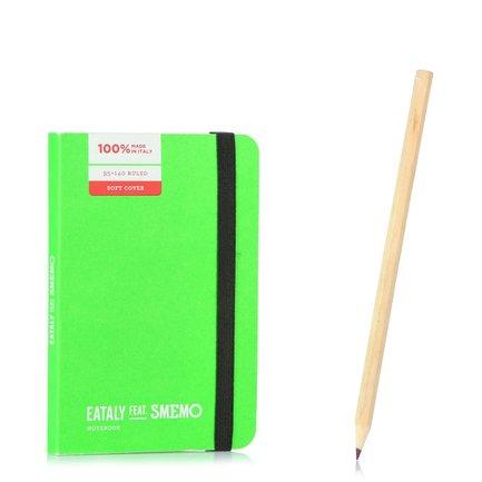 Notebook Pocket Verde Righe