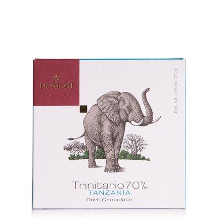 Tavoletta di Cioccolato con Cacao Trinitario 70% Tanzania 50g