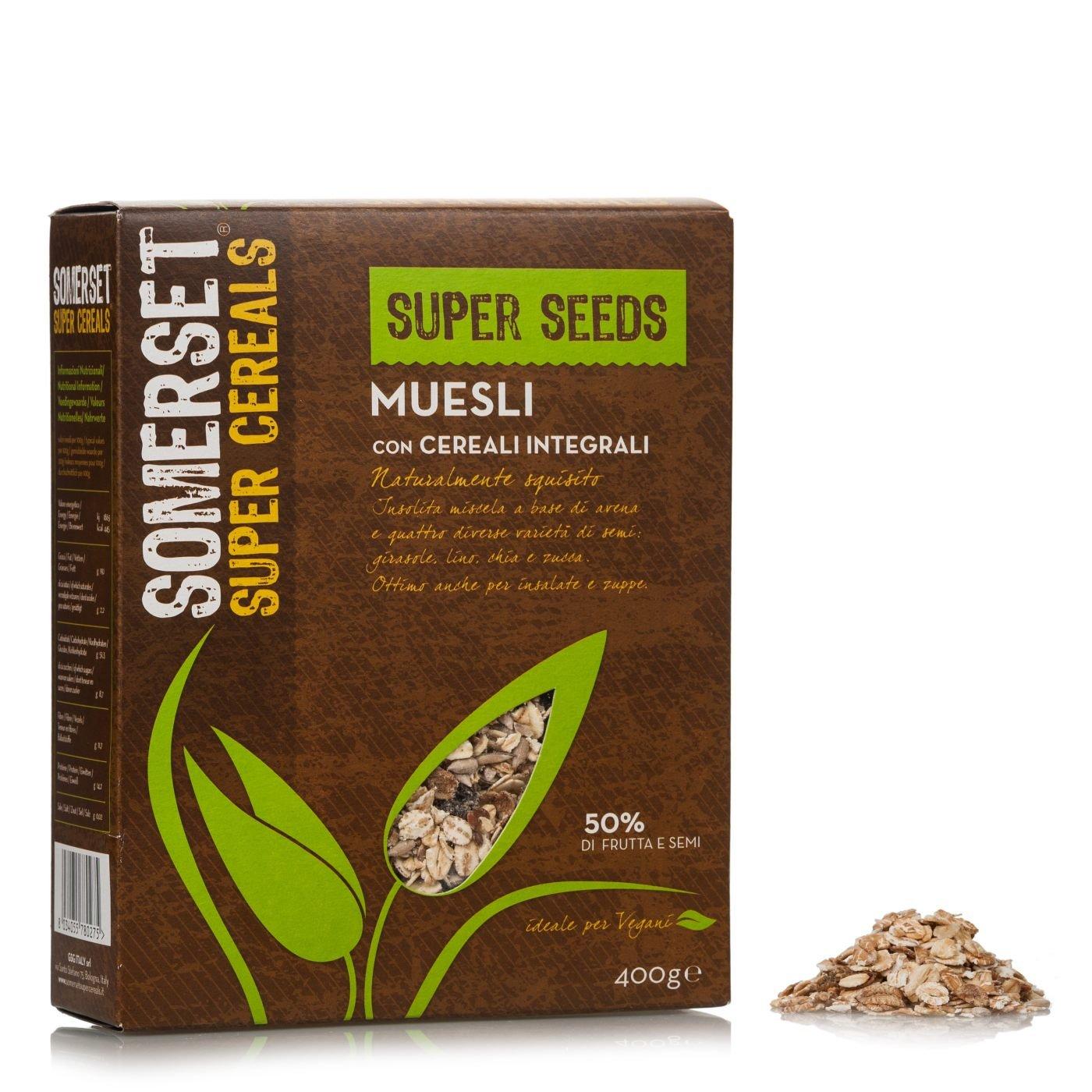 super seeds muesli con cereali integrali 400g somerset super cereals eataly. Black Bedroom Furniture Sets. Home Design Ideas