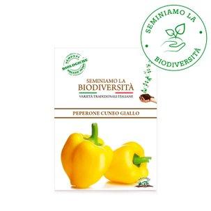 Semi Bio Peperone Cuneo Giallo 0,5g