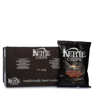 Chips Sale Marino e Pepe Nero 150g 8 pz.
