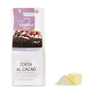 Miscela per torta soffice al cacao senza glutine 400g