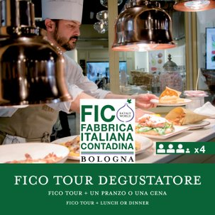 FICO Tour e un Pranzo o Cena Il Degustatore x4
