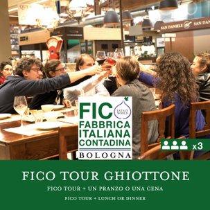 FICO Tour e un Pranzo o Cena Il Ghiottone x3