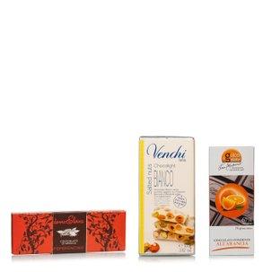 Degustazione il cioccolato aromatizzato