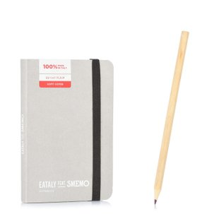 Notebook Pocket Grigio Pagina Bianca
