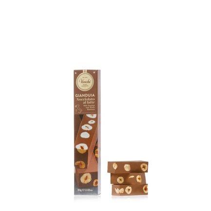 Gianduja Milk Chocolate Bar with Hazelnuts 80g