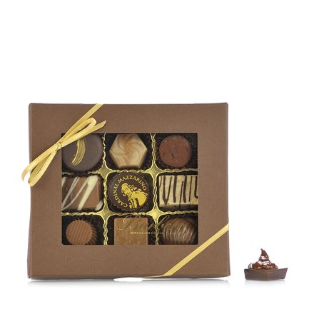 Box with 9 chocolates  100gr