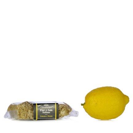 Fleur de sel Lemon and Mint Salt  160g
