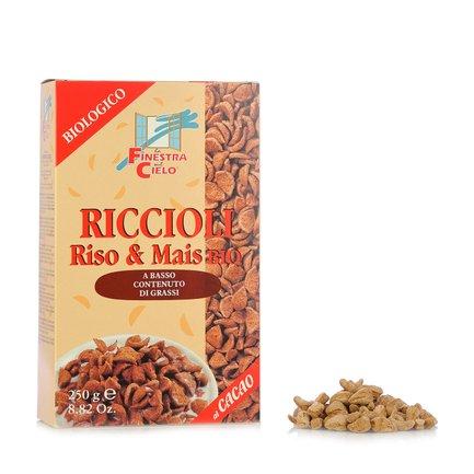 Organic Rice & Corn Curls with Cocoa  250gr