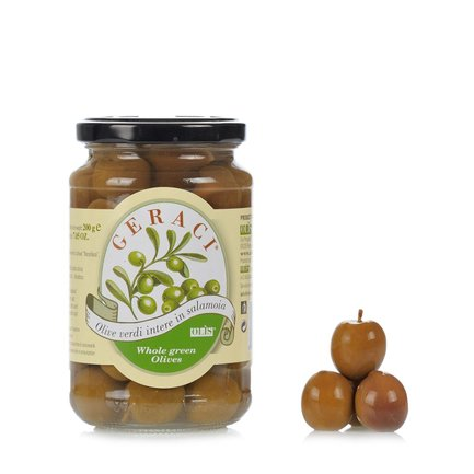 Whole Green Olives in Brine  360gr
