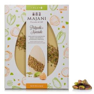 White Chocolate, Pistachio and Hazelnut Platò 250g