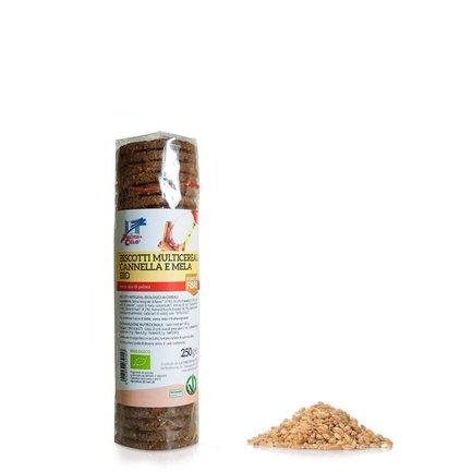 Biscotti multicereali mela e cannella Bio  220g