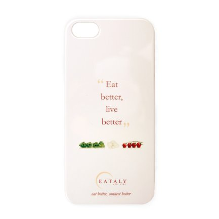 Cover Eataly per iPhone 5-5s Bianca ENG
