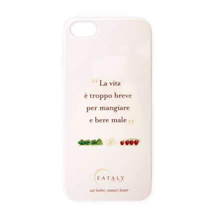 Cover Eataly per iPhone 5-5s Bianca ITA