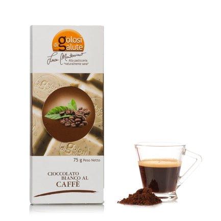 Tavoletta di Cioccolato Bianco al Caffe 75g