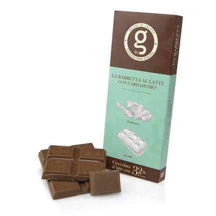 Tavoletta di cioccolato al latte con cardamomo 75g
