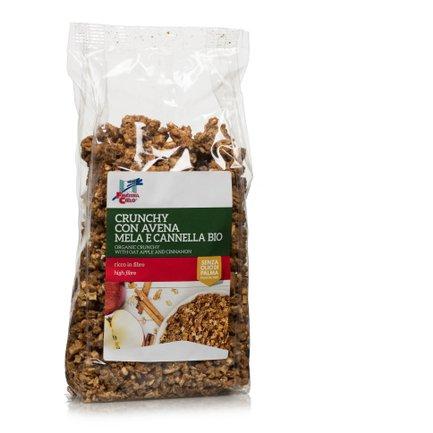 Crunchy Avena Mela Cannella Bio 375g