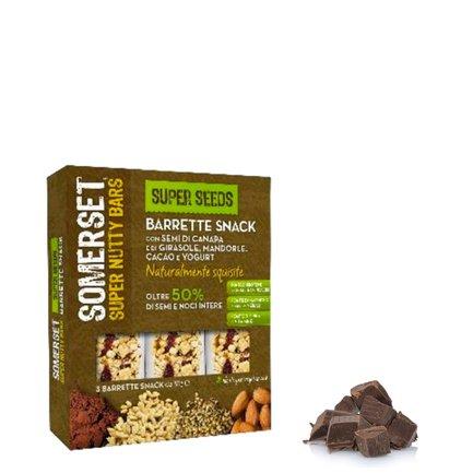 Barrette ai cereali, mandorle, cacao e yogurt 3x35g