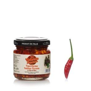 Peperoncino italiano piccante in olio di oliva 100g