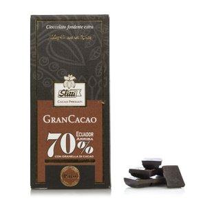 Tavoletta di Cioccolato Fondente Ecuador Arriba 70%  100g