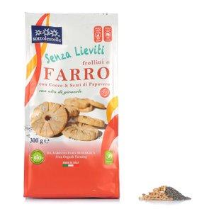 Frollini di Farro con Cocco e Semi di Papavero 350g