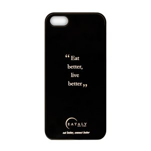 Cover Eataly per iPhone 5-5s Nera ENG