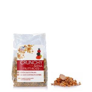 Crunchy Avena Frutti Rossi Bio 375 g