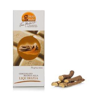 Tavoletta di cioccolato bianco e liquirizia 75g