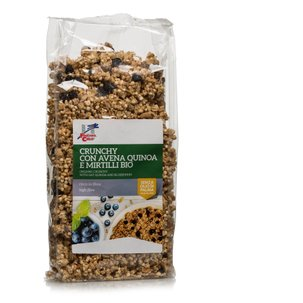 Crunchy Avena Quinoa Mirtillo Bio 375g 375g