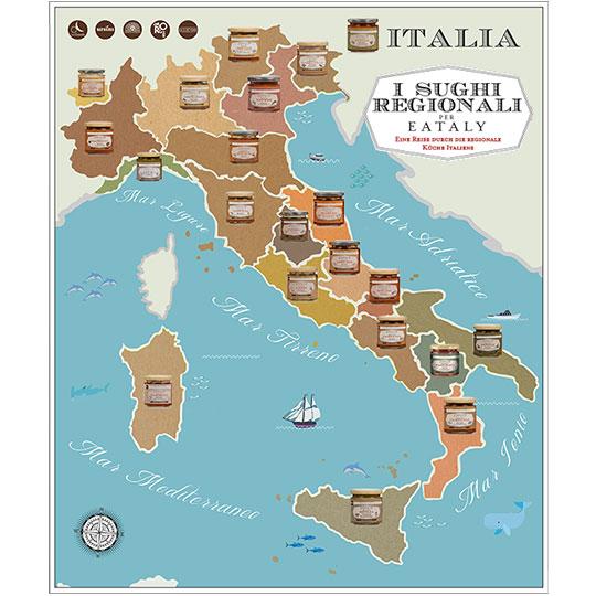 Regionale sossen und pasta