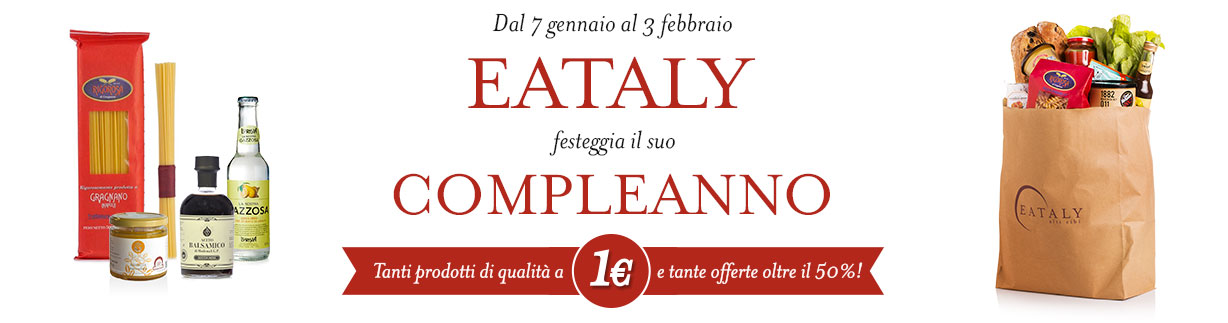 Offerte Compleanno Eataly | Eataly